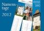 Namenstagkalender mit Postkarten 2012